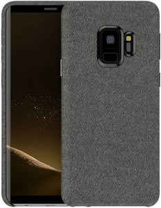 Fabric Soft Cotton Texture Galaxy S9+ Plus Case - Black