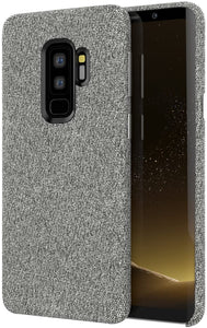 Fabric Soft Cotton Texture Galaxy S9+ Plus Case - Grey