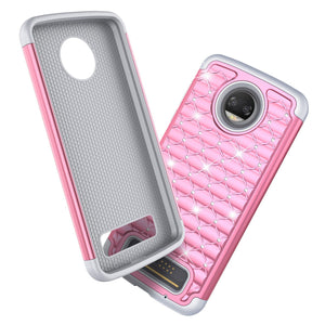 MPC Lattice Full-Star Moto Z2 Force Case - Pink/Gray