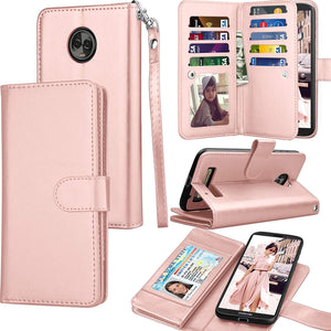 MyJacket Leather Wallet Motorola moto z3 / z3 play Case - Rose Gold