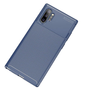 Ultra Thin Carbon Armor Galaxy Note 10 Case - Blue