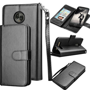MyJacket Leather Wallet Motorola moto z3 / z3 play Case - Black