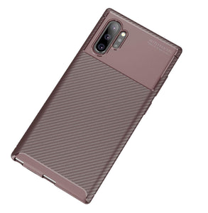 Ultra Thin Carbon Armor Galaxy Note 10 Case - Brown