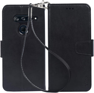 MyJacket Fanxy Wallet LG V40 ThinQ Case - Black/Black