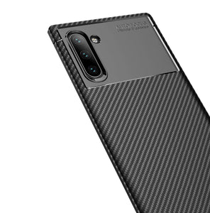 Ultra Thin Carbon Armor Galaxy Note 10 Case - Black