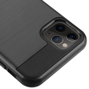 Sleek Shockproof Brushed Aluminum iPhone 11 Pro Max Case - Black