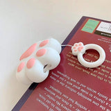 MYBAT AirPods 3D Cartoon Silicone Case - White Cat Claw