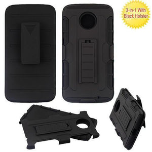 MYBAT Robotic Armor Holster Motorola Moto Z2 Force Case - Black