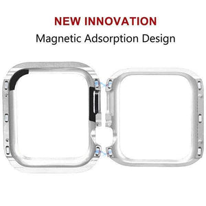 Aluminum Alloy Magnetic Protector Cover Apple Watch 44mm - Silver