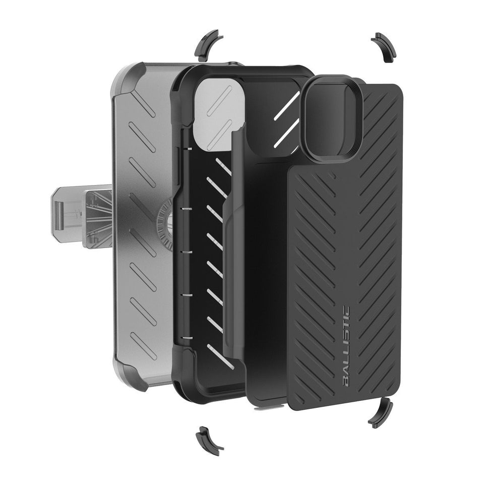 "Ballistic Tough Jacket MAXX iPhone 11 (6.1"") Case Holster - Black"