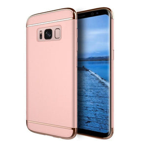 DW Griptech Chrome Frame Galaxy S8 Case - Rose Gold