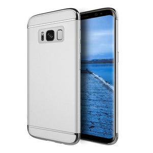 DW Griptech Chrome Frame Galaxy S8 Case - Silver