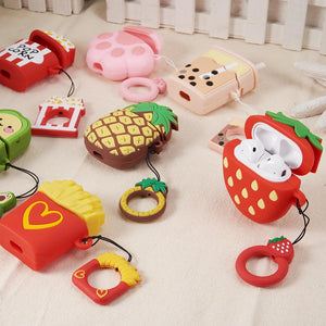 DW Funsie 3D Silicone AirPods 1st/2nd Case - Strawberry