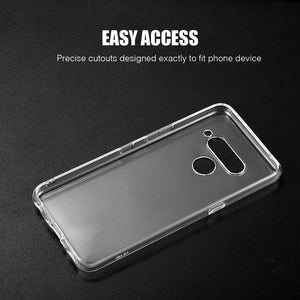 DW High Quality Crystal Skin LG V50 ThinQ Case - Transparent Clear