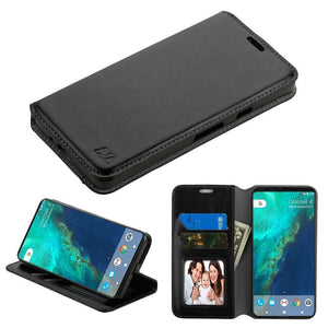 MyJacket Flip Cover Leather Wallet Google Pixel 2 Case - Black