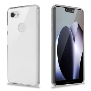 Sturdy Gummy Hybrid Google Pixel 3 XL Case -  Transparent Clear