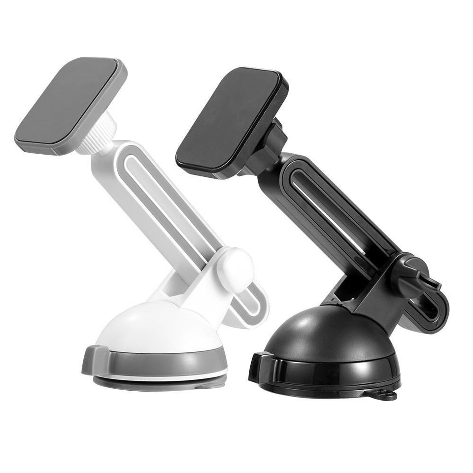 Dashboard/Windshield Magnetic Car Mount Phone Holder - White