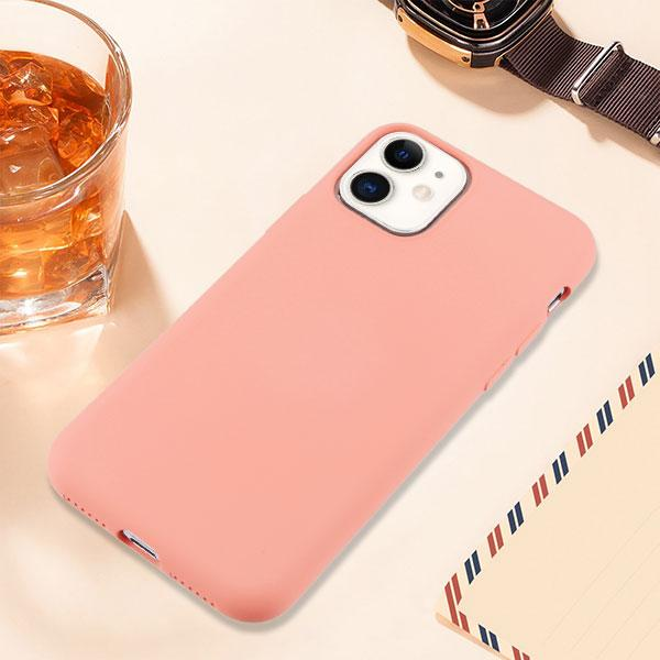 Liquid Silicone Protector iPhone 11 Case - Pink