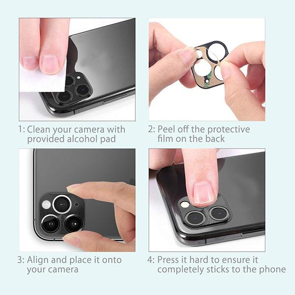 MYBAT Metal Camera Lens Protector for iPhone 11 - Rose Gold