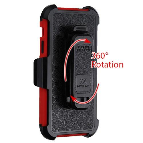 Kinetic Hybrid iPhone 5/5S/SE Case Holster Combo - Red