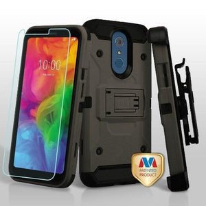 Kinetic Holster Combo LG Q7 / Q7+ Plus Case - Dark Grey