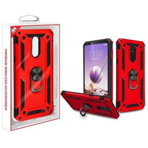 Anti-Drop Ring Stand Armor LG Stylo 5 Case - Red