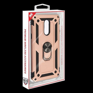 Anti-Drop Ring Stand Armor LG Stylo 5 Case - Rose Gold