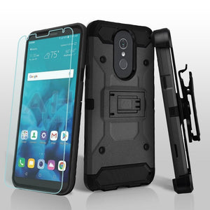Kinetic Total Defender LG Stylo 4 / Stylo 4+ Plus Case Combo - Black