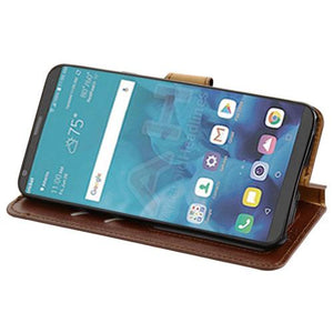 MyJacket Element Series LG Stylo 4 / Stylo 4+ Wallet Case - Brown