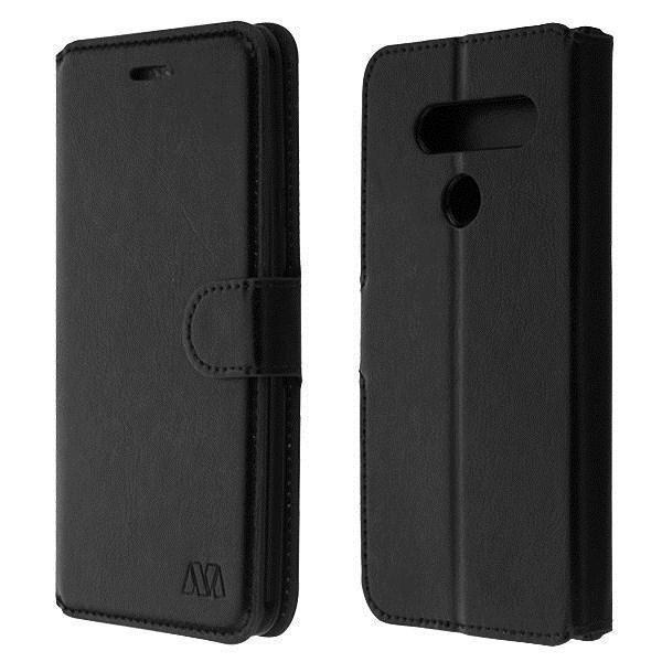 MyJacket Leather Wallet LG V40 ThinQ Case - Black