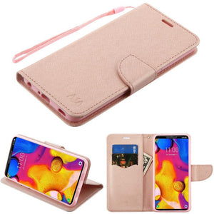 MyJacket Fanxy Wallet LG V40 ThinQ Case - Rose Gold/RG