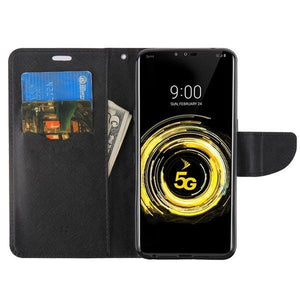 MyJacket Fancy Wallet Series LG V50 ThinQ Case - Black/Black