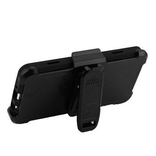 3-in-1 Kinetic Holster LG Aristo 3 / Aristo 2 / Tribute Dynasty Case - Black