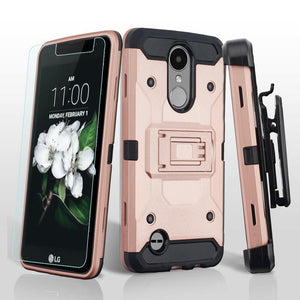 3-in-1 Kinetic Holster LG Aristo 3 / Aristo 2 / Tribute Dynasty Case - Rose Gold