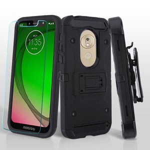 Kinetic Hybrid Motorola Moto G7 Play Case Holster - Black