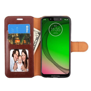 MyJacket Element Series Motorola Moto G7 Play Wallet Case - Brown