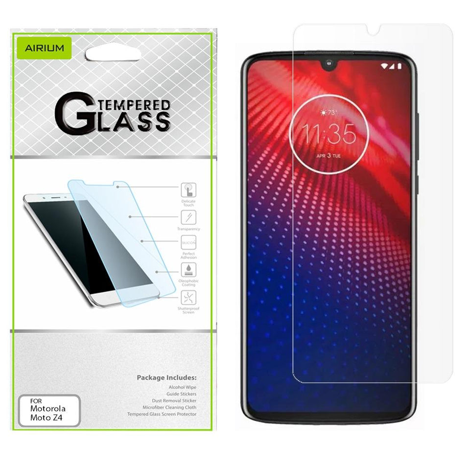 AIRIUM Tempered Glass Screen Protector for Motorola moto z4