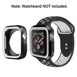 Rugged Candy Skin Cover Apple Watch 4 (40mm) - Black/White