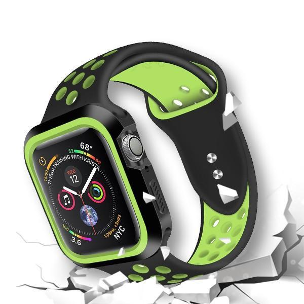 Rugged Candy Skin Cover Apple Watch 4 (40mm) - Black/Green