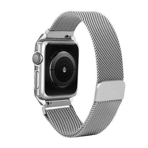 Magnetic lock Watchband w/ Aluminium Case Apple Watch 4 (44mm) - Silver