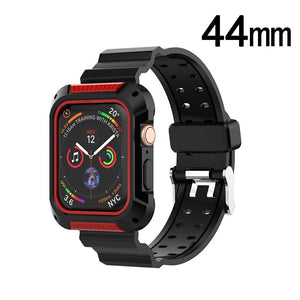 Sport Watchband with TPU Case Apple Watch 4 (44mm) - Black/Red