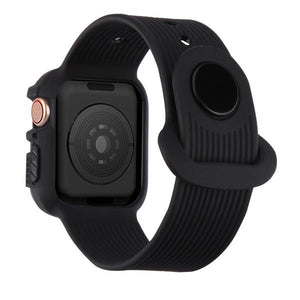 Sport Watchband with TPU Case Apple Watch 4 (44mm) - Black