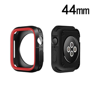 Rugged Candy Skin Cover Apple Watch 4 (44mm) - Black/Red