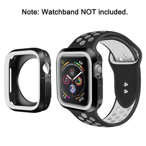 Rugged Candy Skin Cover Apple Watch 4 (44mm) - Black/White