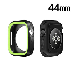 Rugged Candy Skin Cover Apple Watch 4 (44mm) - Black/Green