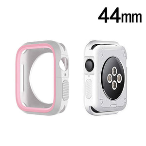 Rugged Candy Skin Cover Apple Watch 4 (44mm) - White/Pink