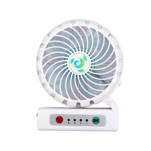 Portable USB rechargeable fan with phone charging function - White