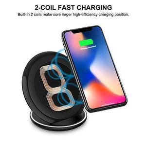 MYBAT Qi Wireless Charging Pad / Stand - Round Black