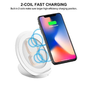 MYBAT Qi Wireless Charging Pad / Stand - Round White