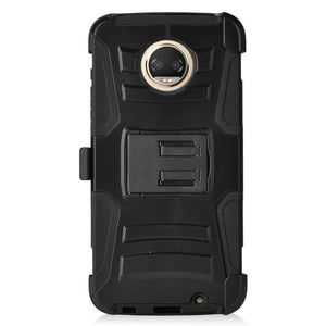 EGC Advanced Armor Holster Motorola Moto Z2 Force Case - Black